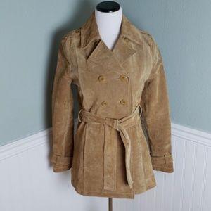 Wilson's Leather Tie Front Trench Coat